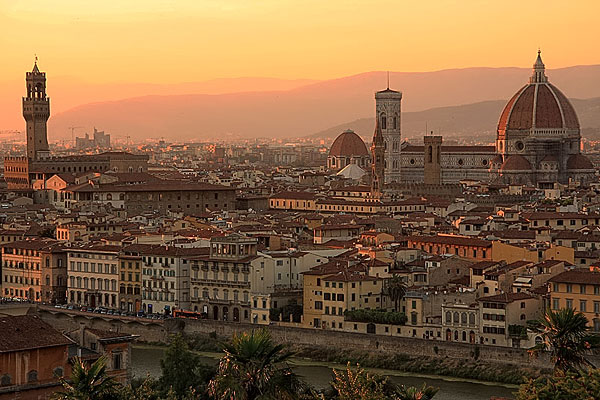 Florence Italy  city images : florence italy sunset